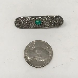 Jewelry - Vintage Sterling Filigree and Turquoise Brooch